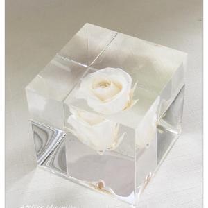 ◆上品にバラ1輪を閉じ込めました☆インアリウムに続いてクリスタル・アートリウムを体験