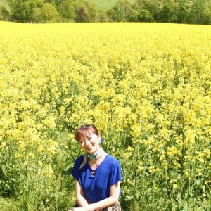 ◆安平町 菜の花畑☆元気とハッピーをくれる黄色の絨毯