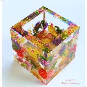 ◆インアリウムで 小花いっぱい万華鏡みたいな小物入れ作り