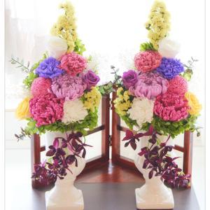 ◆オーダーレッスンで ご用途に合わせたプリザーブド仏花をご自分で作れます