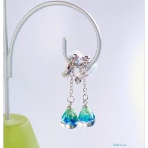 ◆カラフルなシェルパウダーのイヤリング☆インアリウムで作るレジンアクセサリー