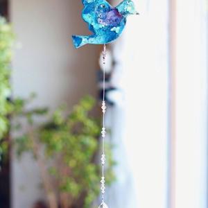 ◆青い鳥のインアリウム サンキャッチャー☆オーダー制作をご依頼頂きました