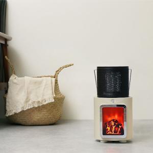 何処にでも連れて行ける、かわいい暖炉ヒーター