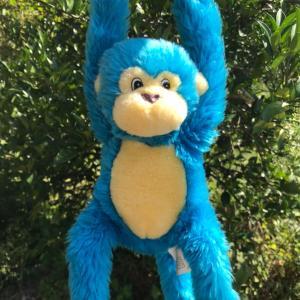 友人からのマイアミのお土産・ブルーのお猿さんのぬいぐるみ