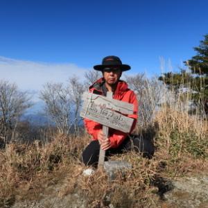 強風と寒さで寒峰撤退し、烏帽子山へ転進: 烏帽子山その2