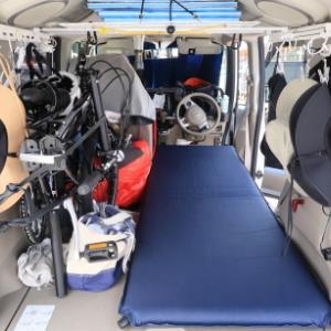 車中泊時のベッドを運転席側にしてみた