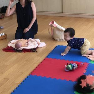ママ友とベビーマッサージ♡