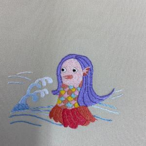 中村刺繍アマビエチャレンジ16日目
