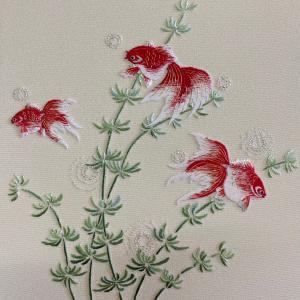 日本刺繍の色紙