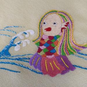 中村刺繍、アマビエチャレンジ