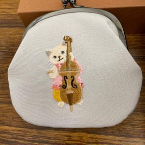 楽器猫のがま口