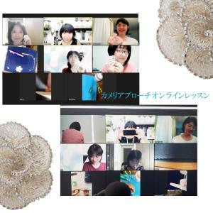 """""""学びの日@kishi.misako 先生デザインのカメリアは編みごたえがあって楽しかった."""""""