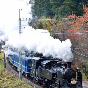 2017年11月5日(日)・東武鉄道鬼怒川線 ~C11207牽引「SL大樹」号/創立120年マーク付