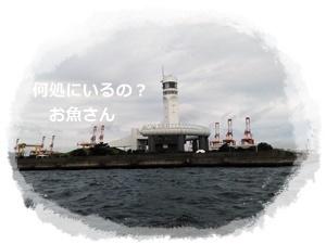 台風の影響後アジ釣り