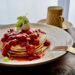 クリームチーズ使用!!チーズケーキパンケーキ/Cheesecake Pancakes