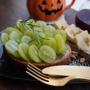 秋の朝食に☆シャインマスカットとゴルゴンゾーラのハニートースト