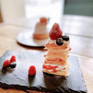 京都♪piuの苺のミルフィーユ