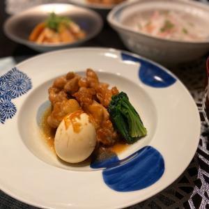 鶏手羽元のマーマレード煮のお夕飯♪
