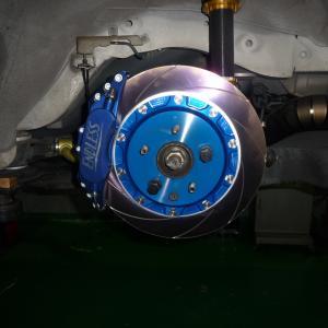 34GTR エンドレス6POT&レーシング4取付