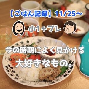 【ごはん記録11/25~】この時期にスーパーで見かける大好きな食べ物。