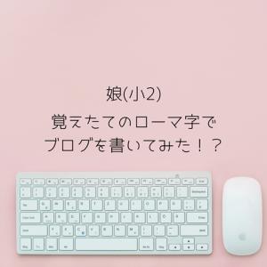 【小2】覚えたてのローマ字でブログを書きたい!?