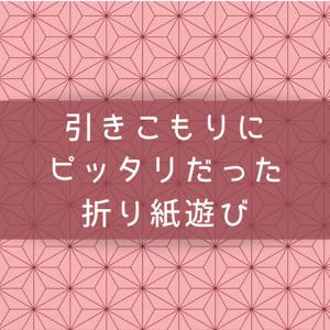 【折り紙遊び】悪天候の引きこもりにピッタリ!揃えたくなる程可愛くできた!