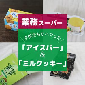 私、一口も食べずに終わった「アイスバー(キウイ)」と73円で買える「ミルクッキー」【業務スーパー】