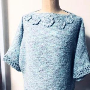 編み物を足して…