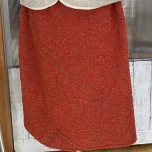 グラフチェック織りのスカート