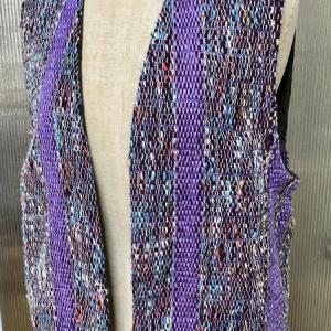 織布有効利用の裂織りベスト