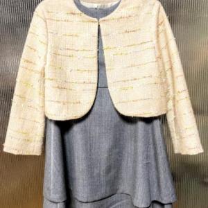 ママの織った生地で入学式の晴れ着!