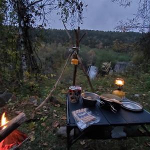 八ヶ岳山麓で秋キャンプ