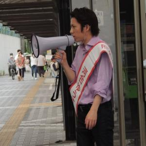 河合ゆうすけさん,東京都議会選挙まずは金町での遊説の演説をYouTubeで!