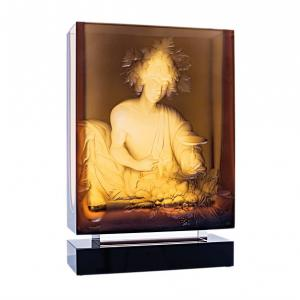 ボヘミアガラス モーゼル 花瓶 バッカス