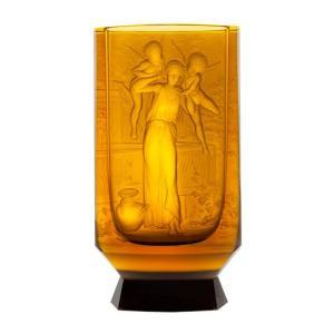 ボヘミアガラス モーゼル 花瓶 ジャスミン
