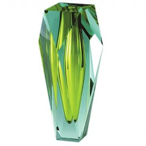 ボヘミアガラス モーゼル 花瓶 ゲマ