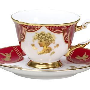 大倉陶園 デミタスカップ&ソーサー 即興詩人 「ローマのオペラ座と歌姫」