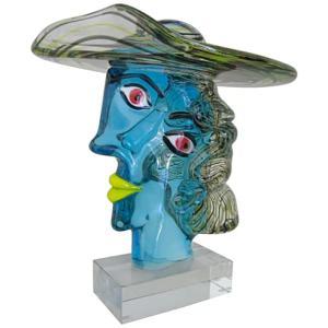 ヴェネチアガラス オブジェ 彫刻 ピカソ像