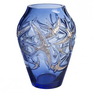 ラリック 花瓶 イロンデール サファイア・ブルー