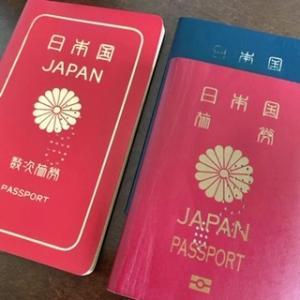 昔のデカいパスポート