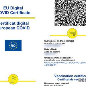EU Digital COVID Certificate(ワクチンパスポート)