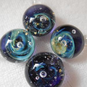 ●とんぼ玉教室 ~宇宙玉 気まぐれ渦巻き星雲~