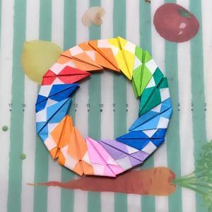 ユニット折り紙 今度は虹の輪