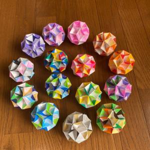 ユニット折り紙  ダイヤモンド増殖