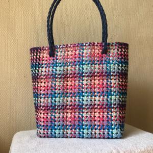 ■クラフトバンドでトートバック(A4サイズ)  by石畳(四つだたみ)編み