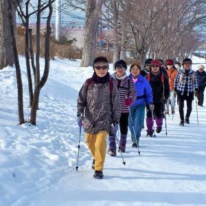 雪原ノルディックウォーキング&バーベキュー新年♪『前編』