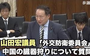 山田宏議員 中国の臓器狩りについて質問 2019年11月7日参議院「外交防衛委員会」  NTDTVJP  「日本が黙っているのはおかしい」「日本政府も規制を強化すべき」と指摘