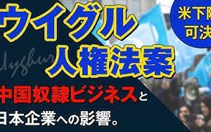 米下院「ウイグル人権法案」可決!中国奴隷ビジネスと日本企業への影響。(釈量子) 幸福実現党