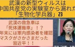 【武漢の新型ウィルスは中国共産党の実験室から漏れた「生物化学兵器」23】武漢の救急車は 「死体運搬車」!?/ 昨年末には軍内感染者を確認 /マスクがさかさまだった 習近平!!
