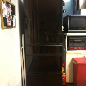 新しい冷蔵庫来ました。